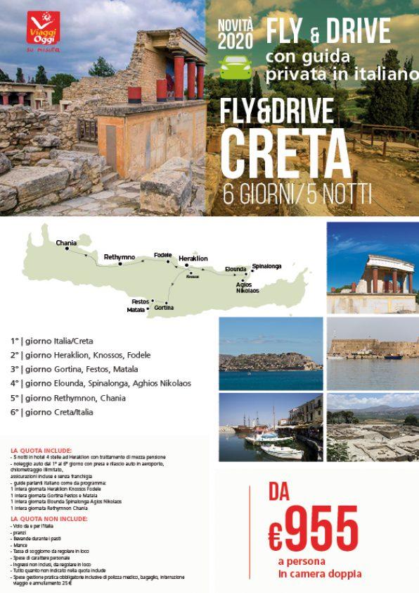 locandina offerta tour fly and drive creta