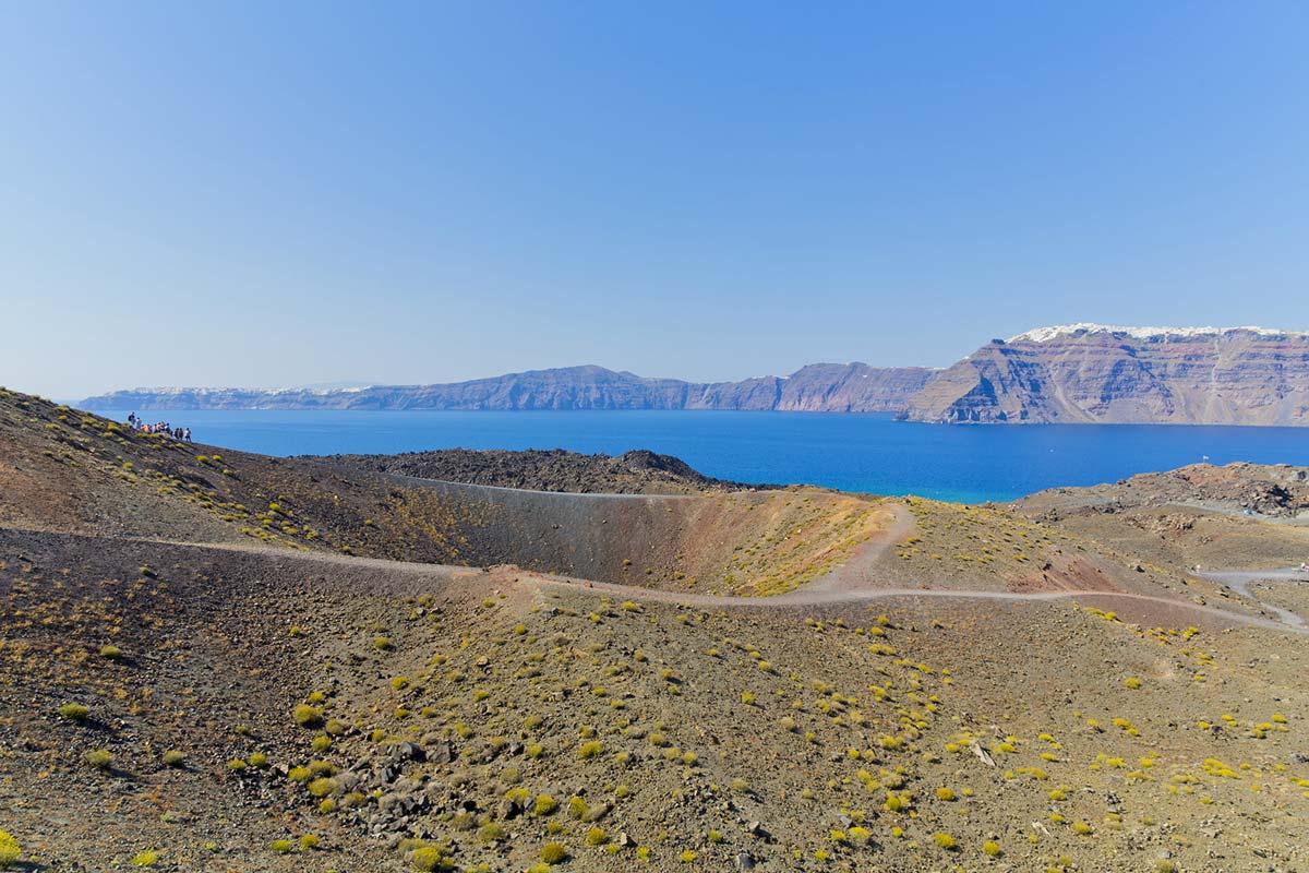 Caldera di Santorini il cratere