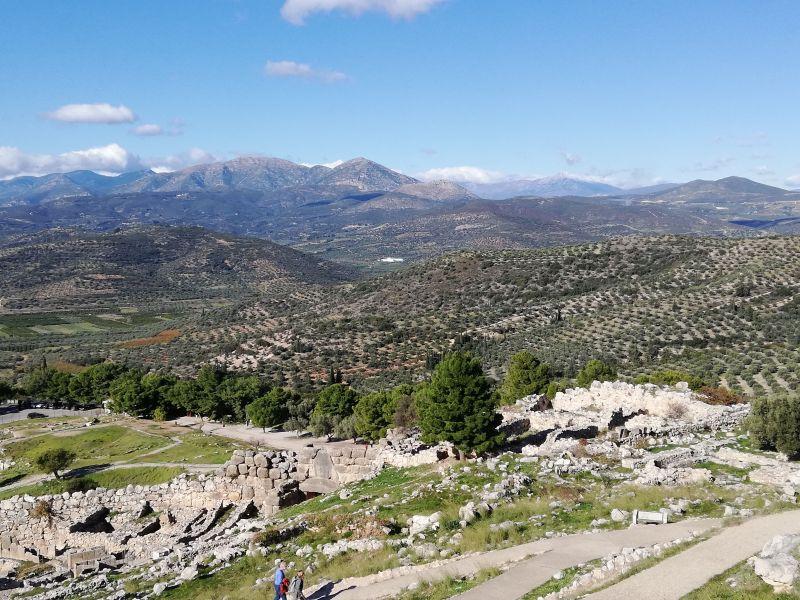 Vista dall'alto del sito archeologico di Micene Tour Grecia Classica